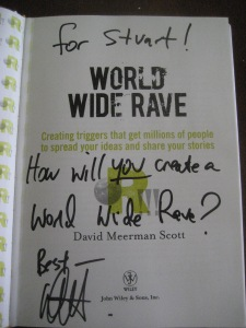 For Stuart! How will you create a World Wide Rave?