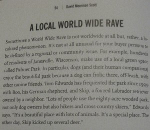 My hometown Janesville, WI even got mention